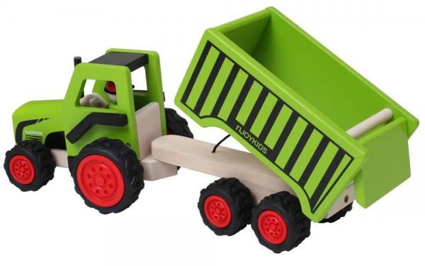 Holz Traktor mit Kipper | Anhänger 85734 in 2020 | Traktor