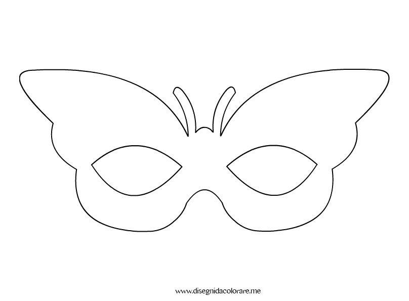 Farfalla da colorare maschera farfalla disegni da for Immagini farfalle da ritagliare
