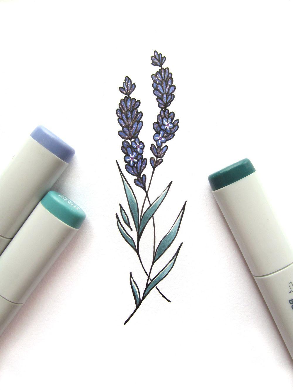 Simple-Lavender-Plant-Tattoo-Design.jpg (764×764) | tattoo ... |Lavender Tattoo Outline