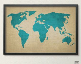 Rustic world map vintage map of the world printed canvas texture rustic world map vintage map of the world printed canvas texture world map gumiabroncs Images