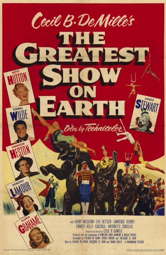 The Greatest Show On Earth 11x17 Movie Poster 1952 Earth Film