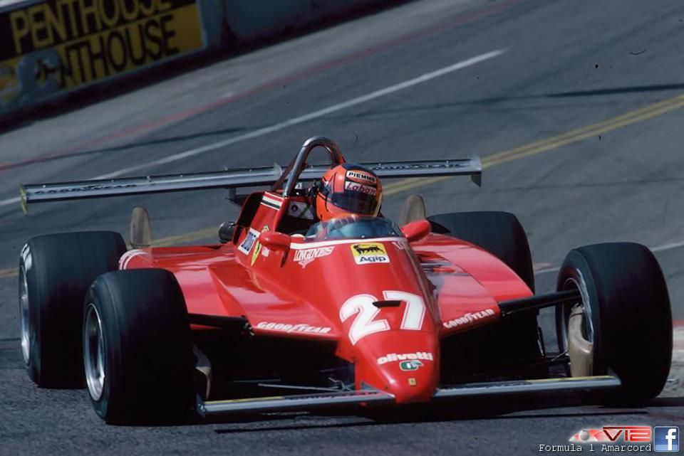 Gilles Villeneuve Ferrari 126C2 Long Beach レースカー, フェラーリ