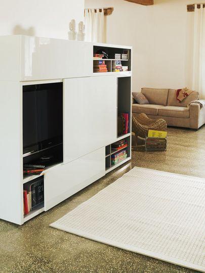Meuble tv s lection de meubles t l d co et pratiques for Meuble a porte roulante