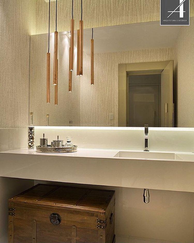 Muito sofisticado esse lavabo by claudia pimenta for Altura de lavabo