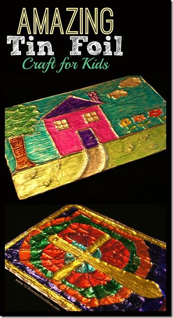 Amazing tin foil craft for kids this is such a fun art for Crafts for 3rd graders
