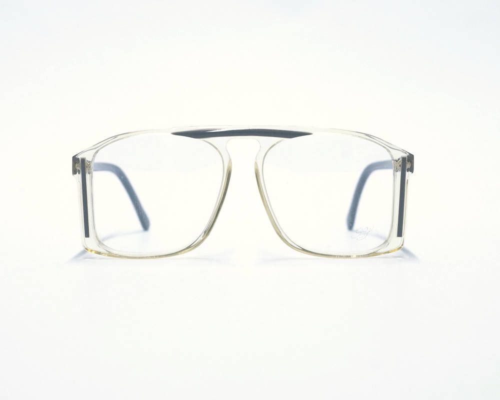 351f10083ee7 80s Vintage Oversized Eyeglasses - Mens Eyeglass Frame - Clear glasses  frame - Hip Hop eyeglasses