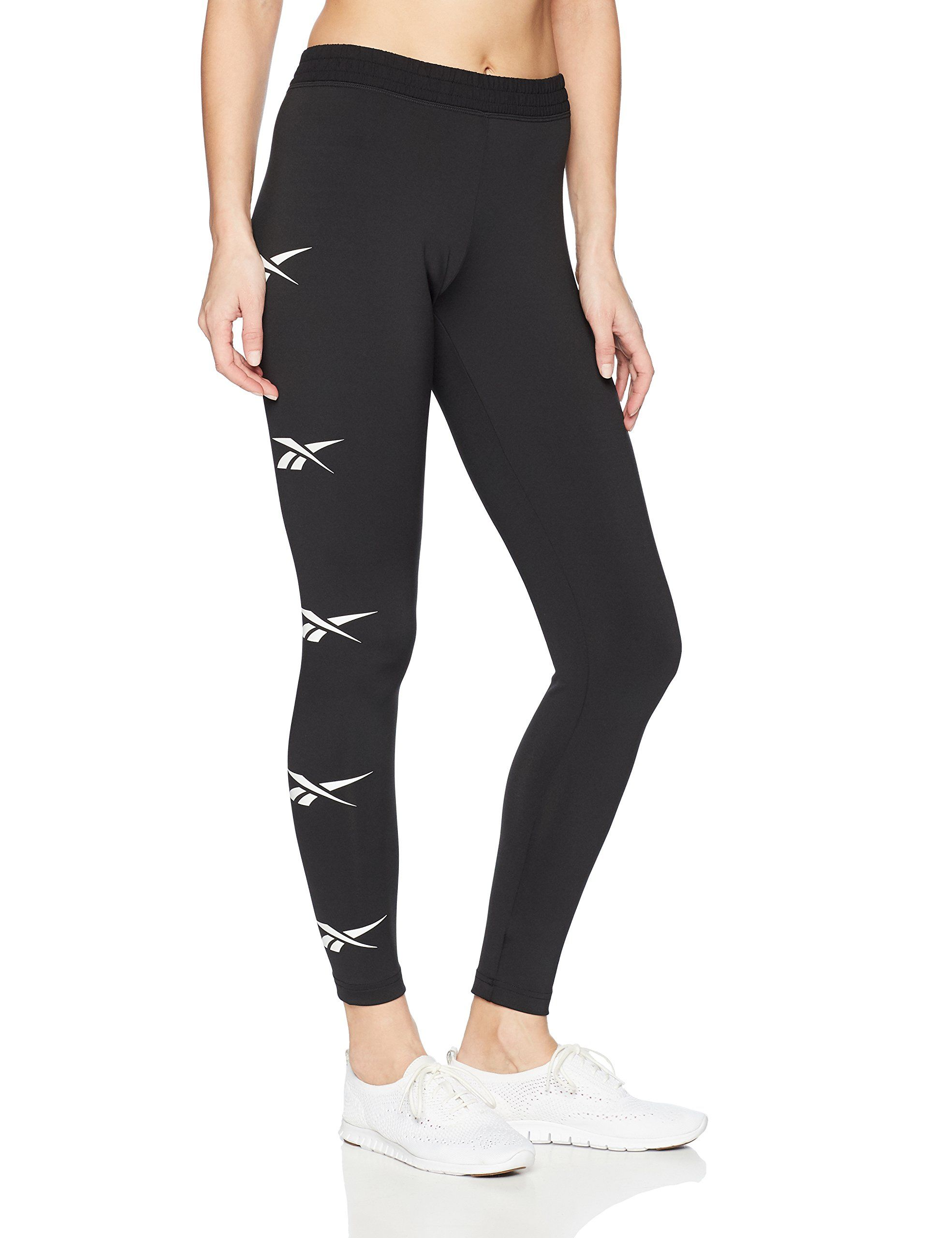 f85132bbf5f4e Reebok Womens Printed Capri Leggings With MidRise Waist Performance  Compression Tights Charcoal Heather Large ** Check this awesome …