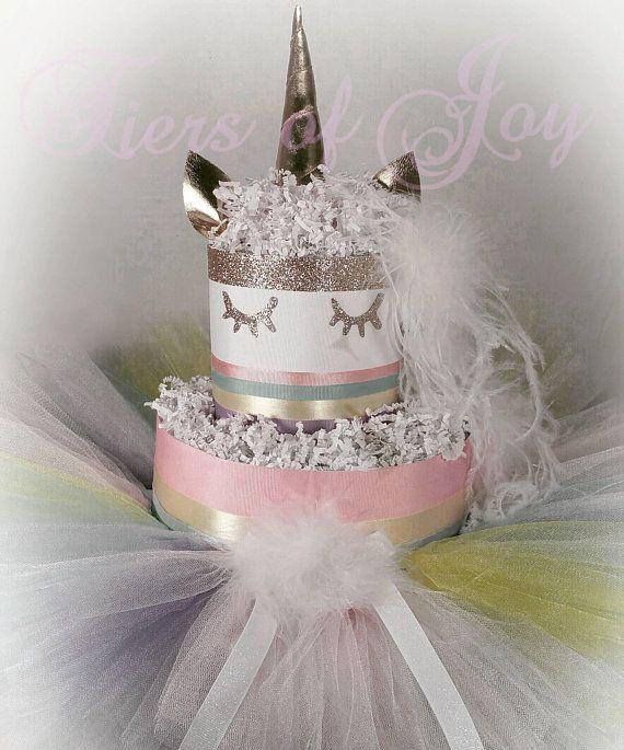 Unicorn Diaper Cake Unicorn Dress Girls Baby Shower Item