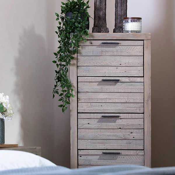 dulwich tall reclaimed wood chest of