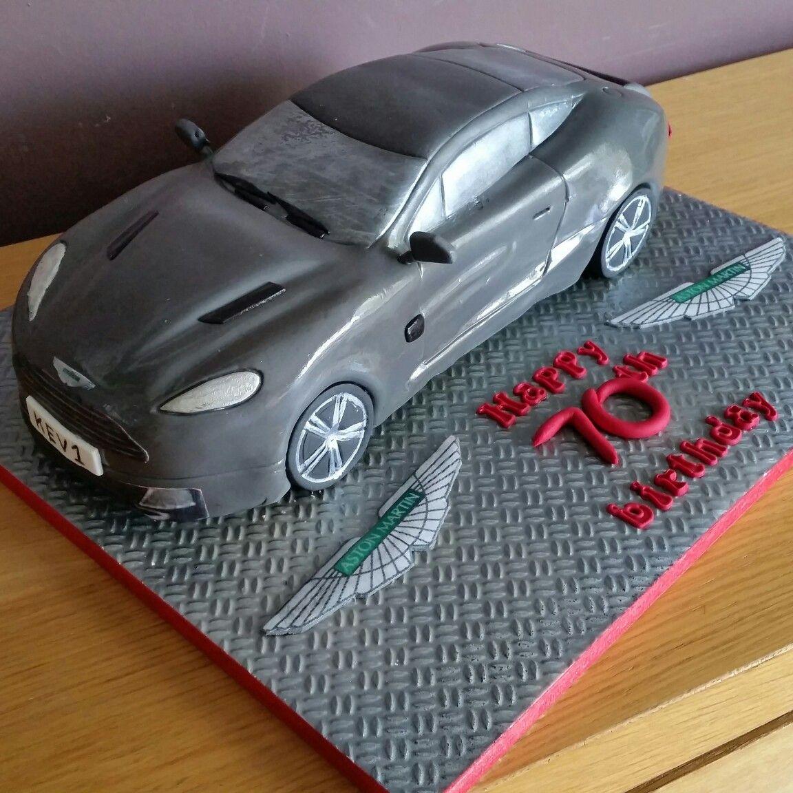 Lovely Aston Martin Vanquish Birthday Cake