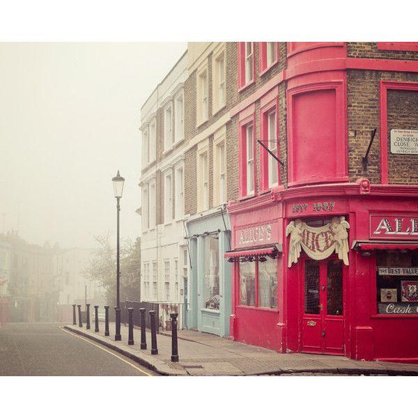 London Photography, Notting Hill Fine Art Print, Fog, London Art, Fog,... ($30) ❤ liked on Polyvore