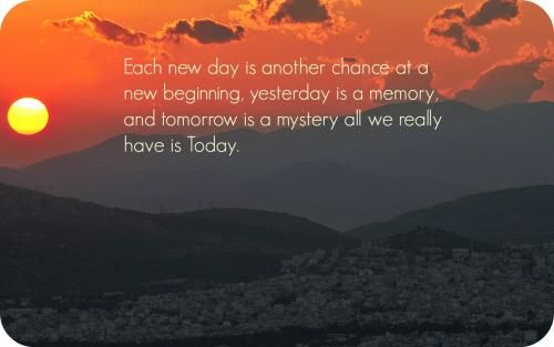 Exceptional Tomorrow Is Another Day And Another Chance