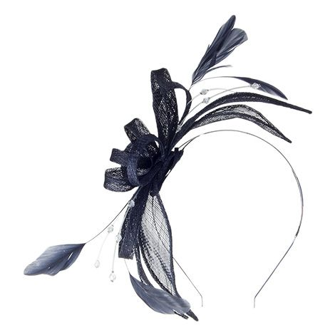 4ae5ee3c9d3 Buy the Failsworth Hats Jenaya Fascinator - Navy at Village Hats. The  destination for hats