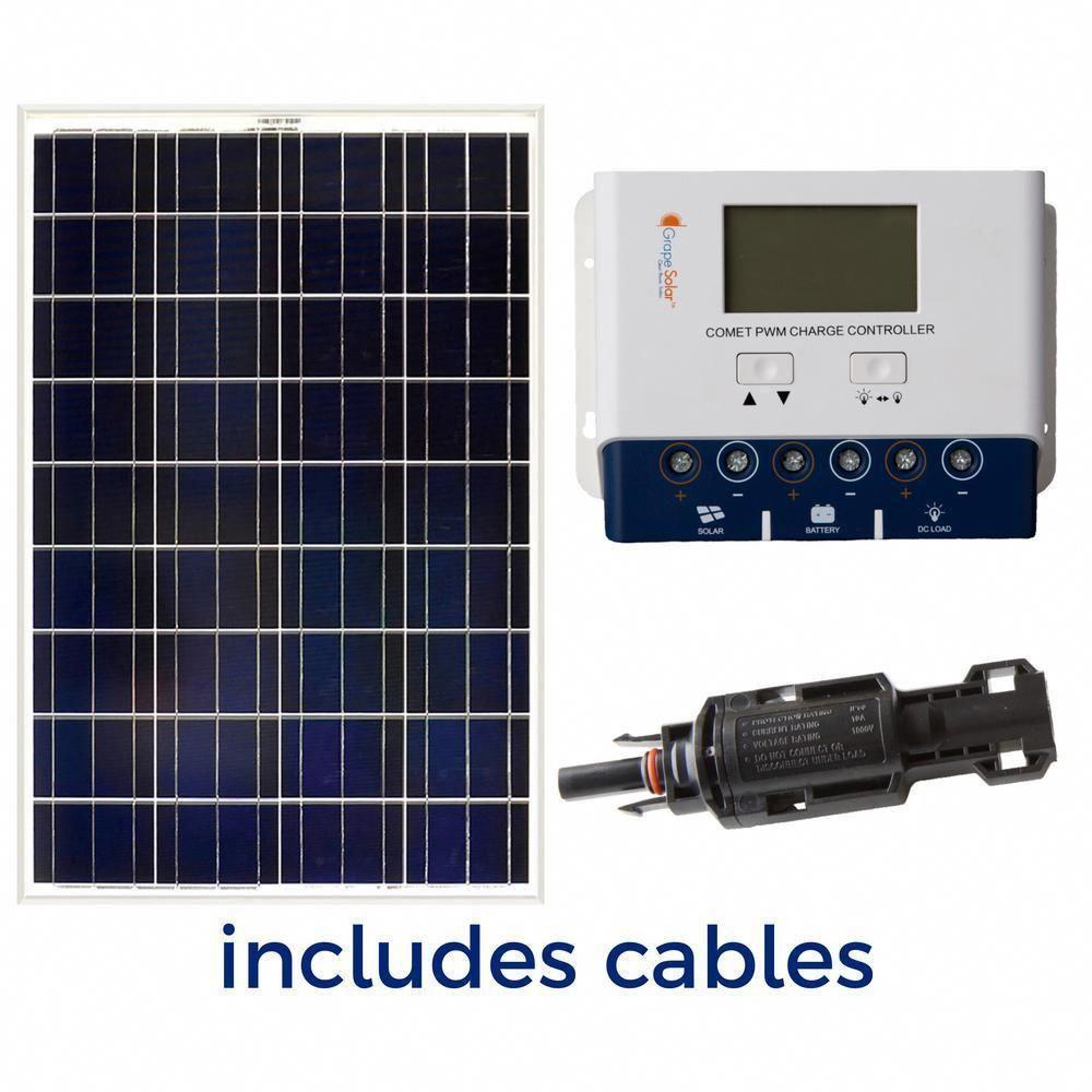 Grape Solar 100 Watt Off Grid Solar Panel Kit Solarpanels Solarenergy Solarpower Solargenerator Solarpanel In 2020 Off Grid Solar Panels Solar Panels Solar Panel Kits