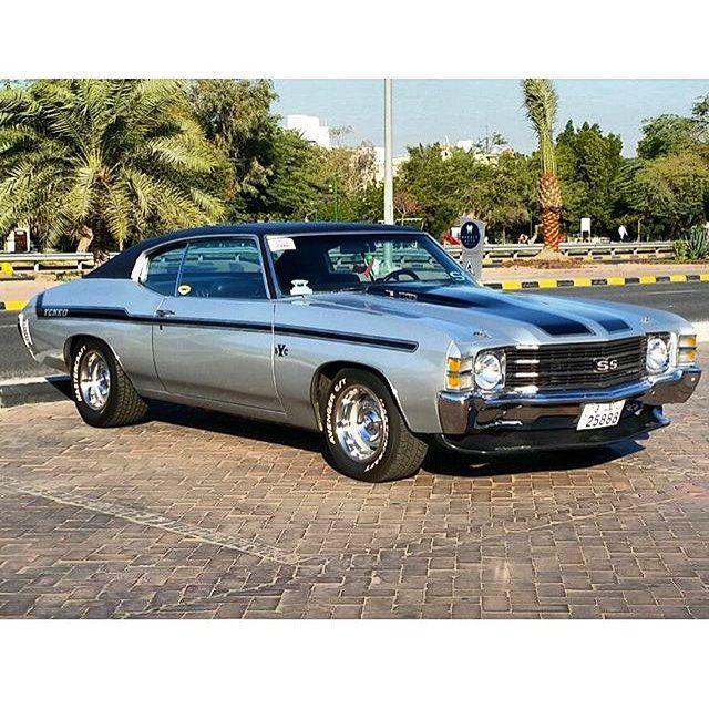 71 Chevelle Silver Black Yenko Stripe Spoiler In Kuwait Grey