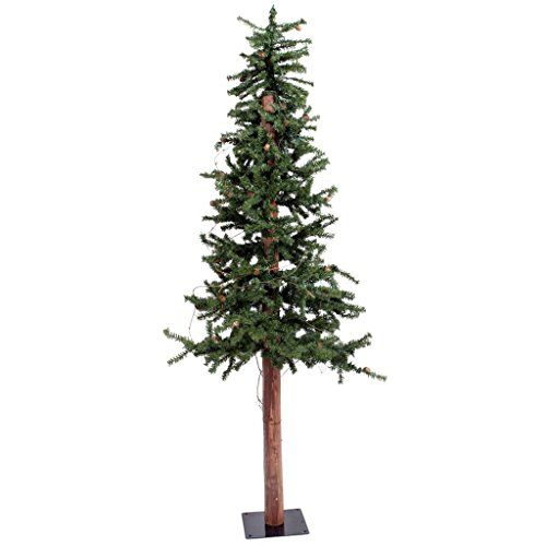Vickerman 6 Unlit Alpine Artificial Christmas Tree with Cones and