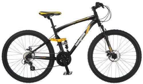 Sale Mongoose Stasis Expert 26 Inch Full Suspension Mountain Bicycle