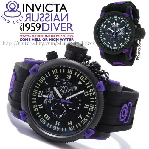 invicta men s watch russian diver element chronograph silicone invicta men s watch russian diver element chronograph silicone strap model 10184