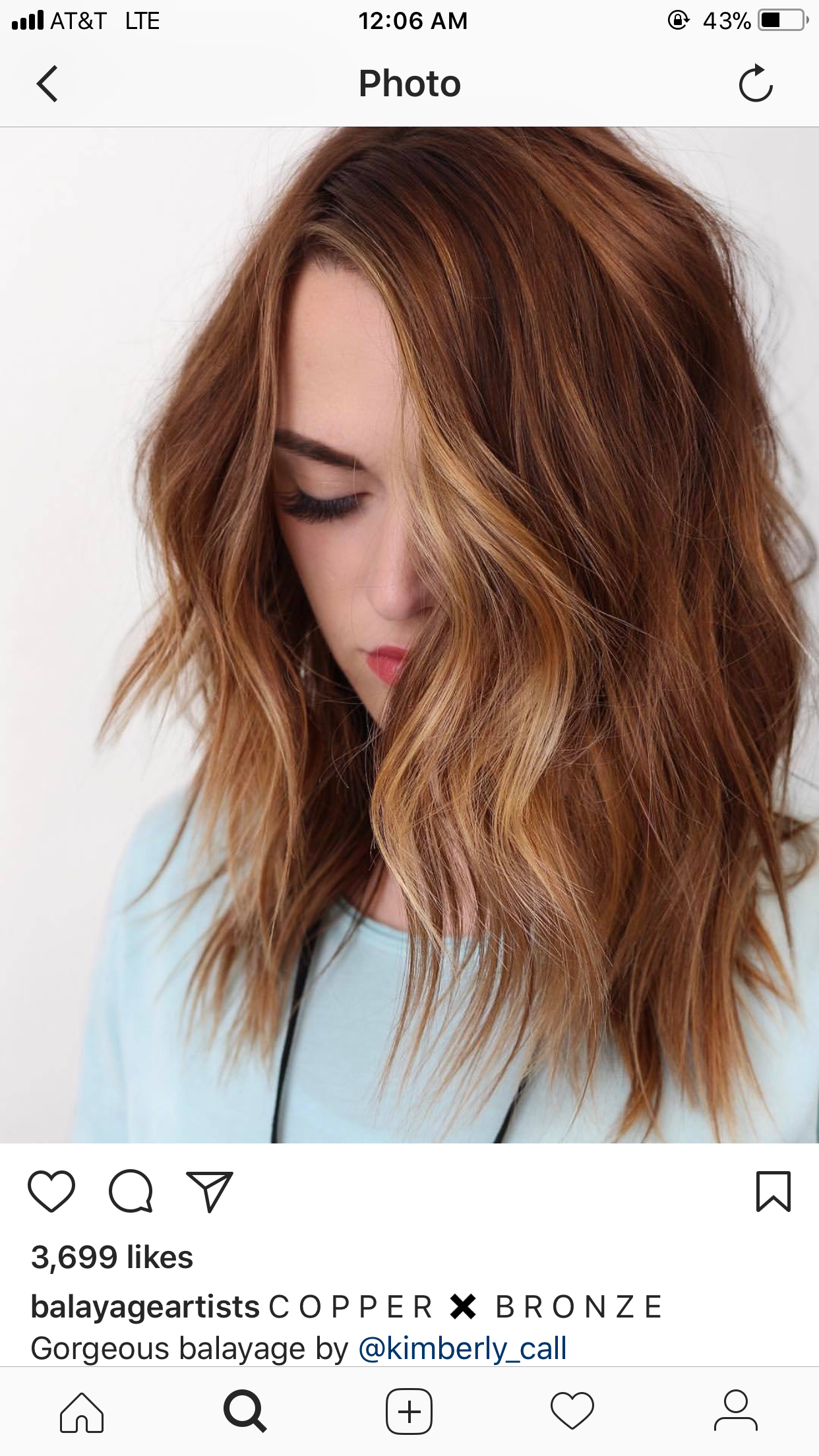 Copper Bronze Hair Color