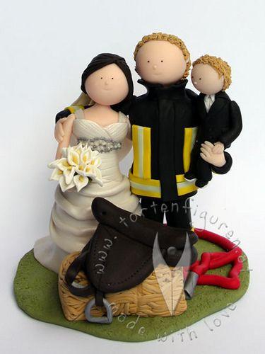 Feuerwehr Brautpaar Mit Kind Hochzeitstortenfiguren Tortenfiguren