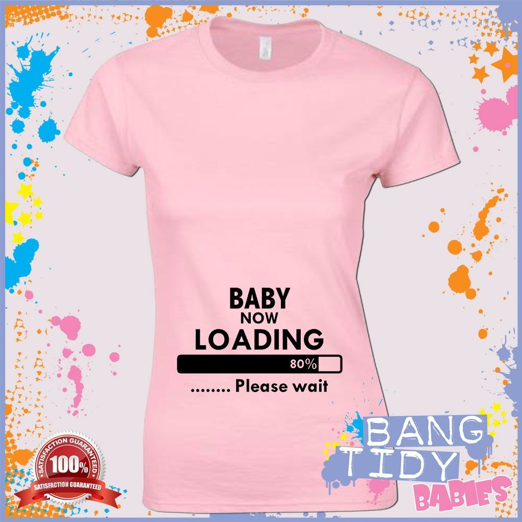 Pregnant womens t shirt personlised your own baby scan funny maternity mother ebay