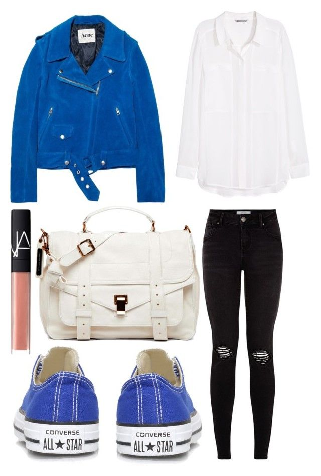 """""""Converse."""" by fabubilous ❤ liked on Polyvore featuring Acne Studios, Converse, H&M, NARS Cosmetics and Proenza Schouler"""