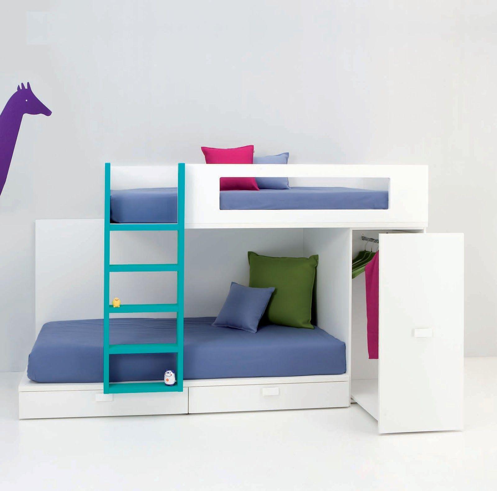 Modelo de cama tren se puede hacer en una medida m nima de - Habitaciones infantiles tren ...