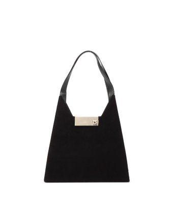style #332880801 Pre-Owned: black Gancini fabric shoulder bag