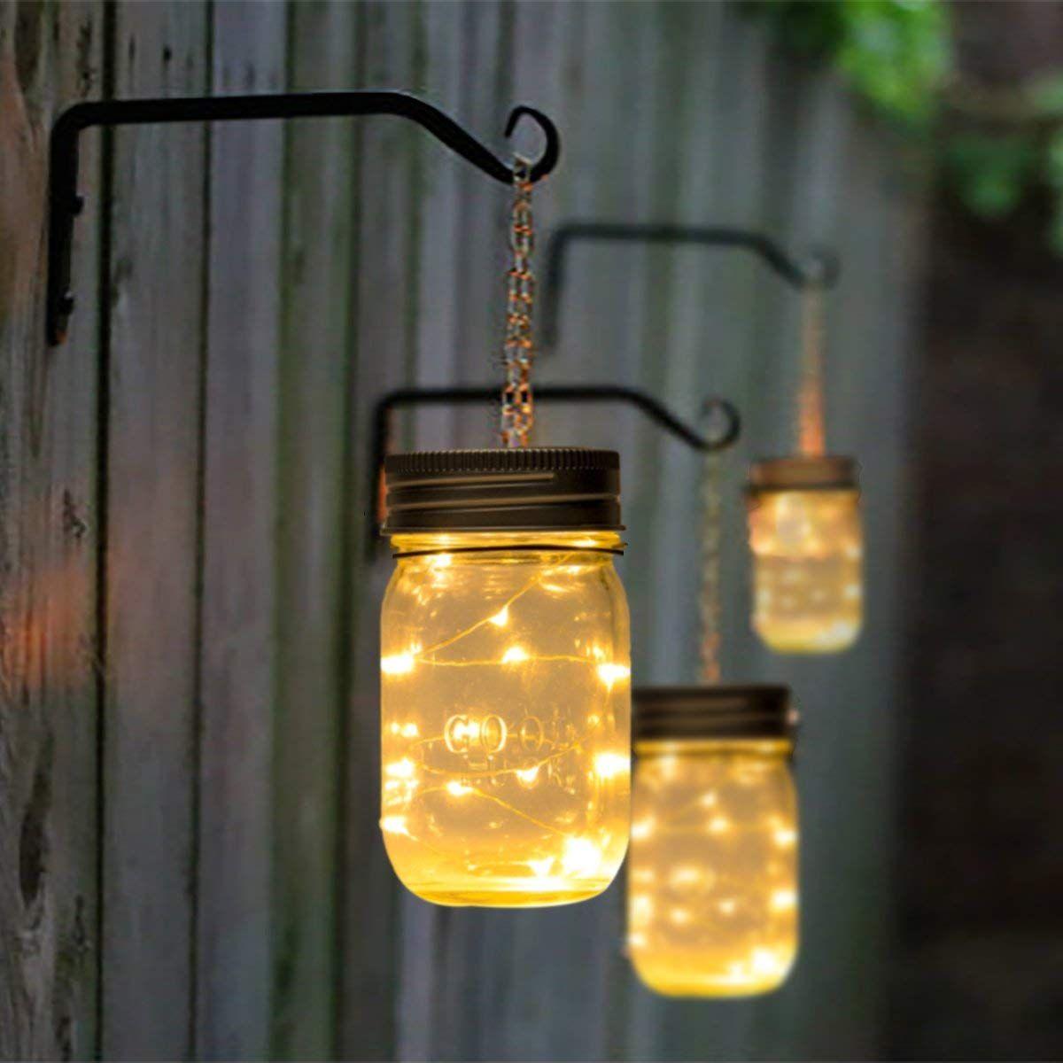 Gigalumi Solar Mason Jar Licht 1 Stuck 15 Led Wasserdicht Solar Einmachglas Fur Aussen Warmweiss Garten Hang In 2020 Solarleuchten Garten Solar Hangelampen Solarleuchten