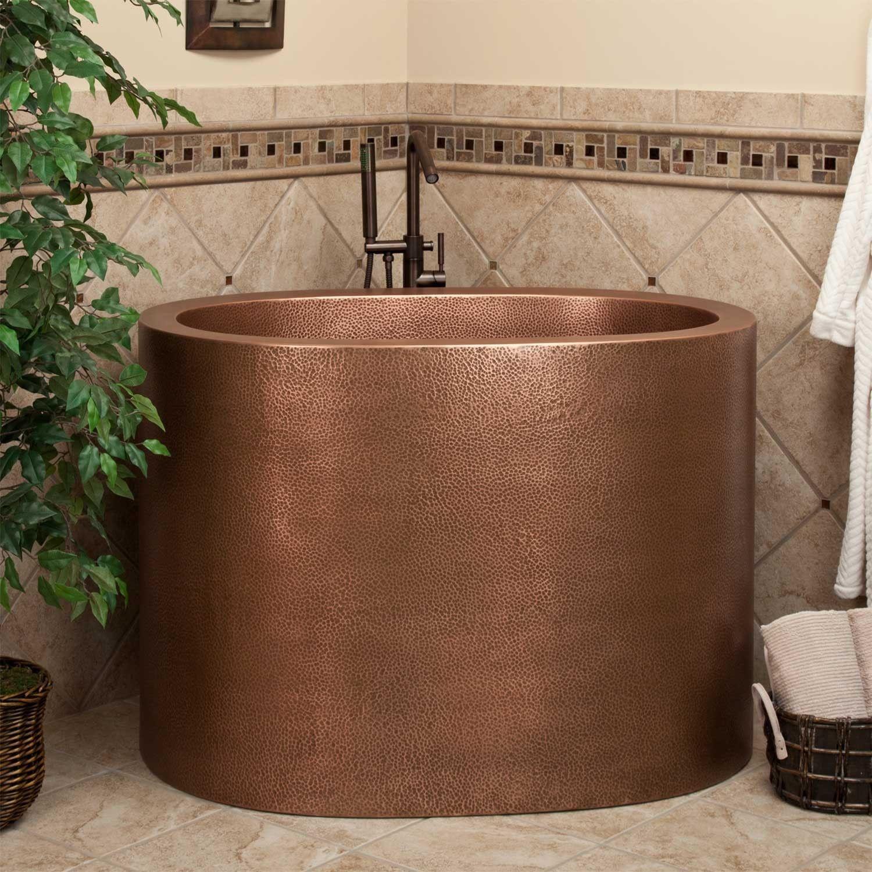 48 Raksha Copper Japanese Soaking Tub Bathtubs Bathroom