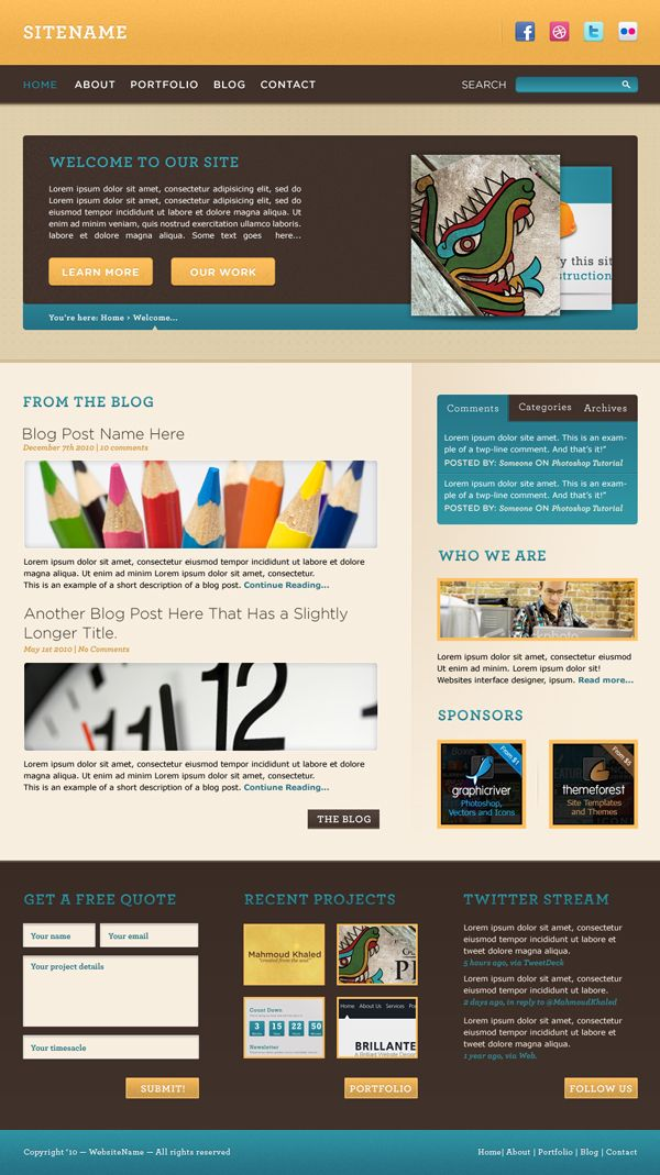Convert A Warm Cheerful Web Design To Html And Css Tuts Code Tutorial Web Design Css Tutorial Psd Web Design