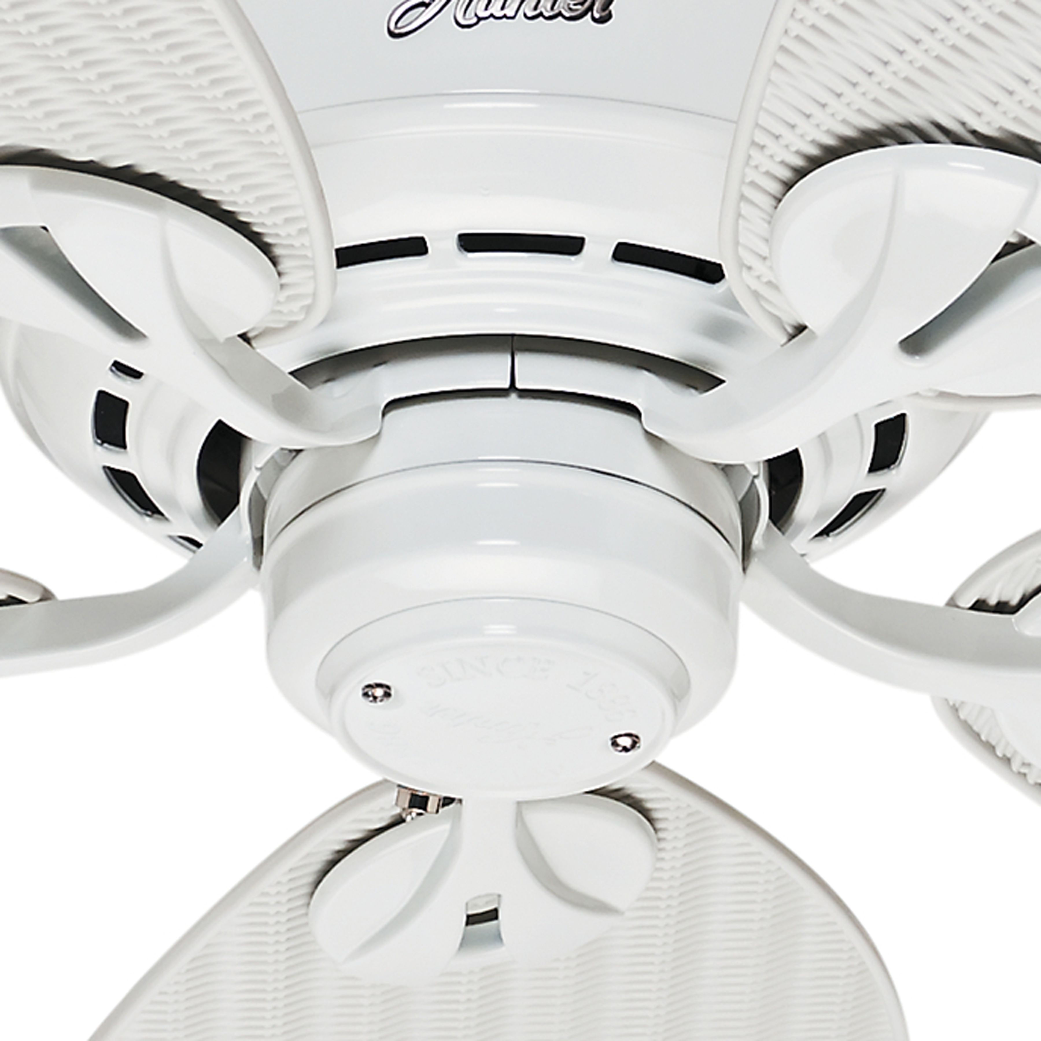 Hunter 54 inch outdoor damp rated white finish ceiling fan hunter 54 inch outdoor damp rated white finish ceiling fan energy aloadofball Images