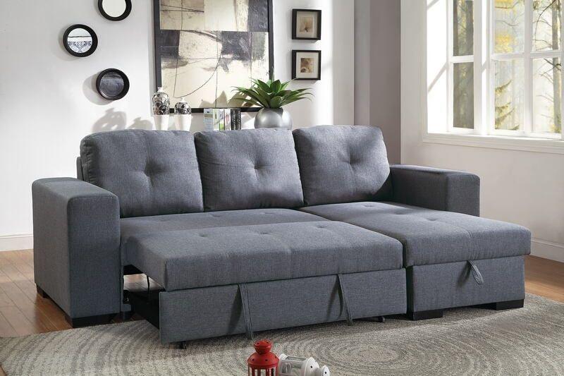Swell Poundex F6910 2 Pc Everly Blue Grey Linen Like Fabric Machost Co Dining Chair Design Ideas Machostcouk