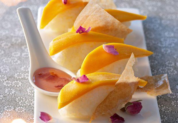 Sushis mangue et rose