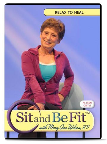 Relax To Heal Dvd Sit And Be Fit Exercise Senior Fitness Flexibility Workout