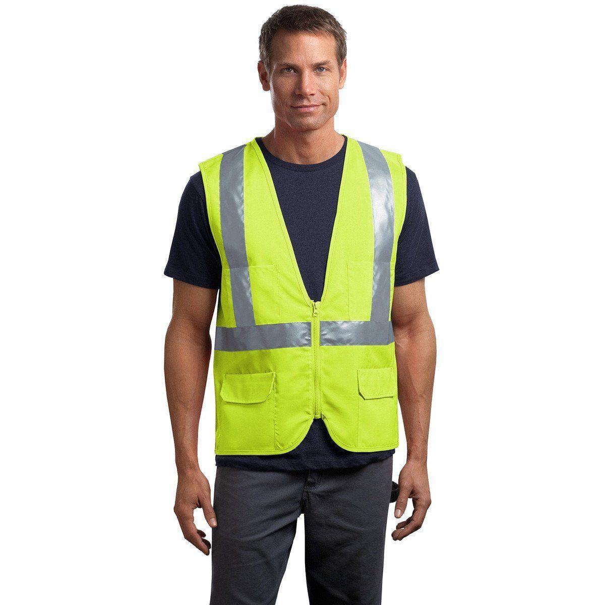CornerStone Safety Yellow ANSI 107 Class 2 Mesh Back