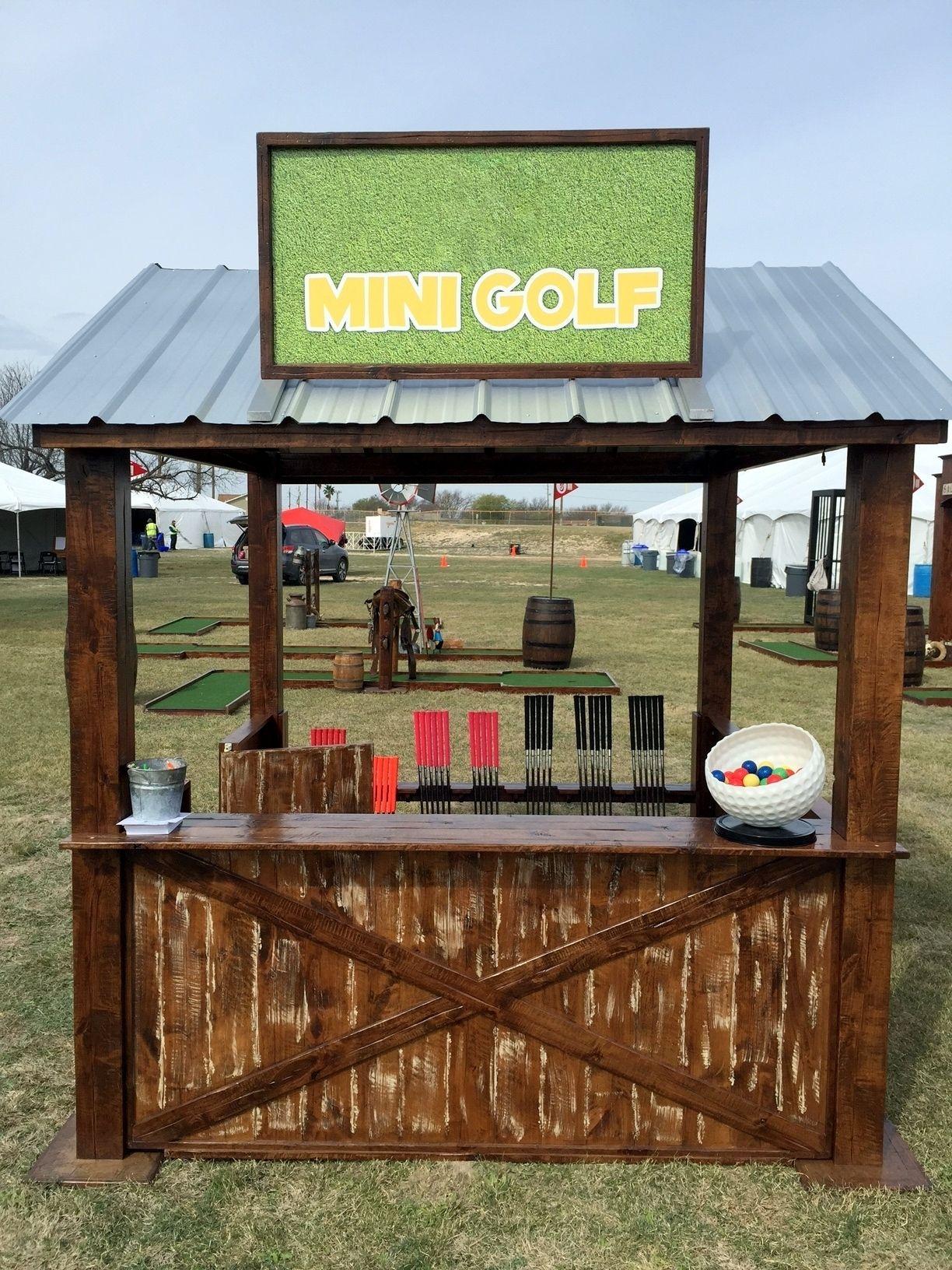 Portable mini golf stand Mini golf, Portable