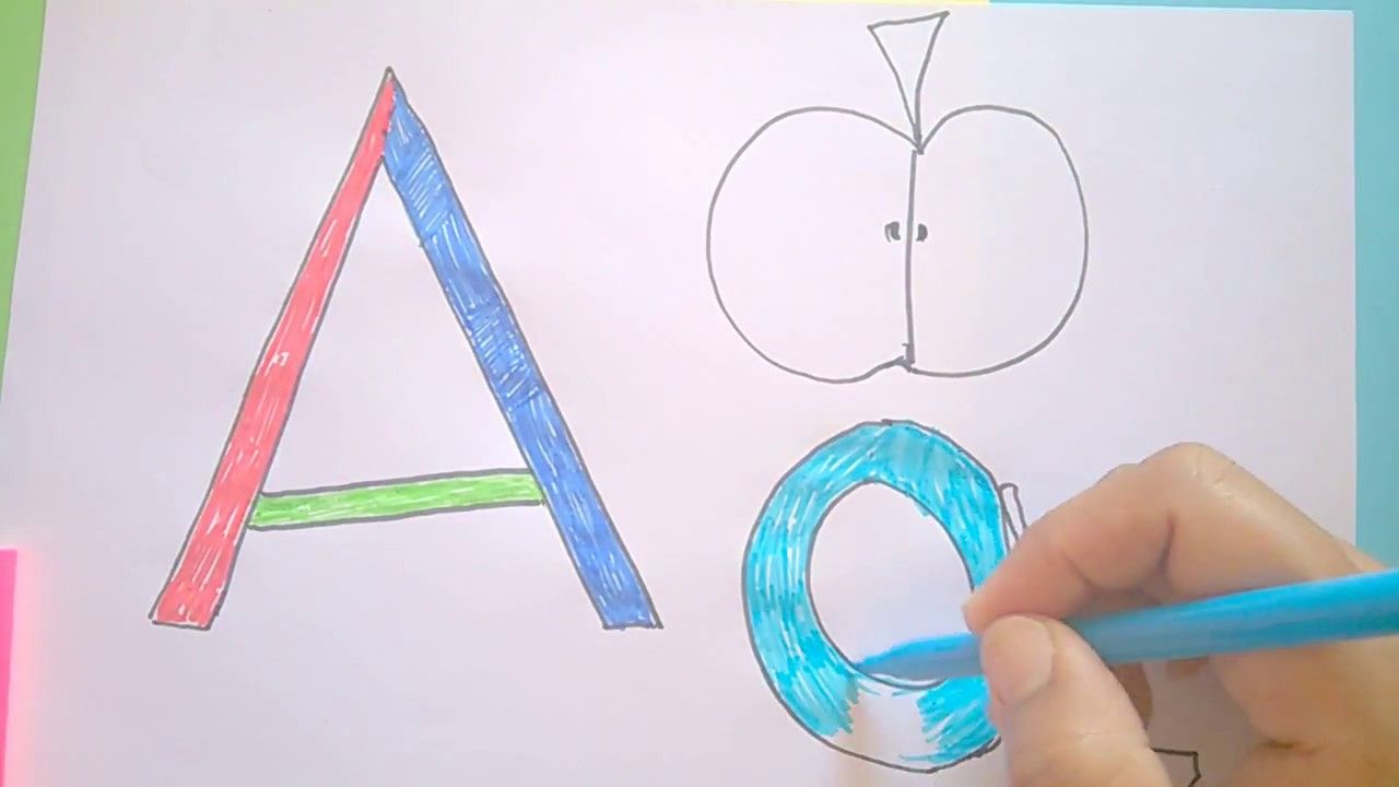 Draw say and learn English letters, free Online homeschool program ...