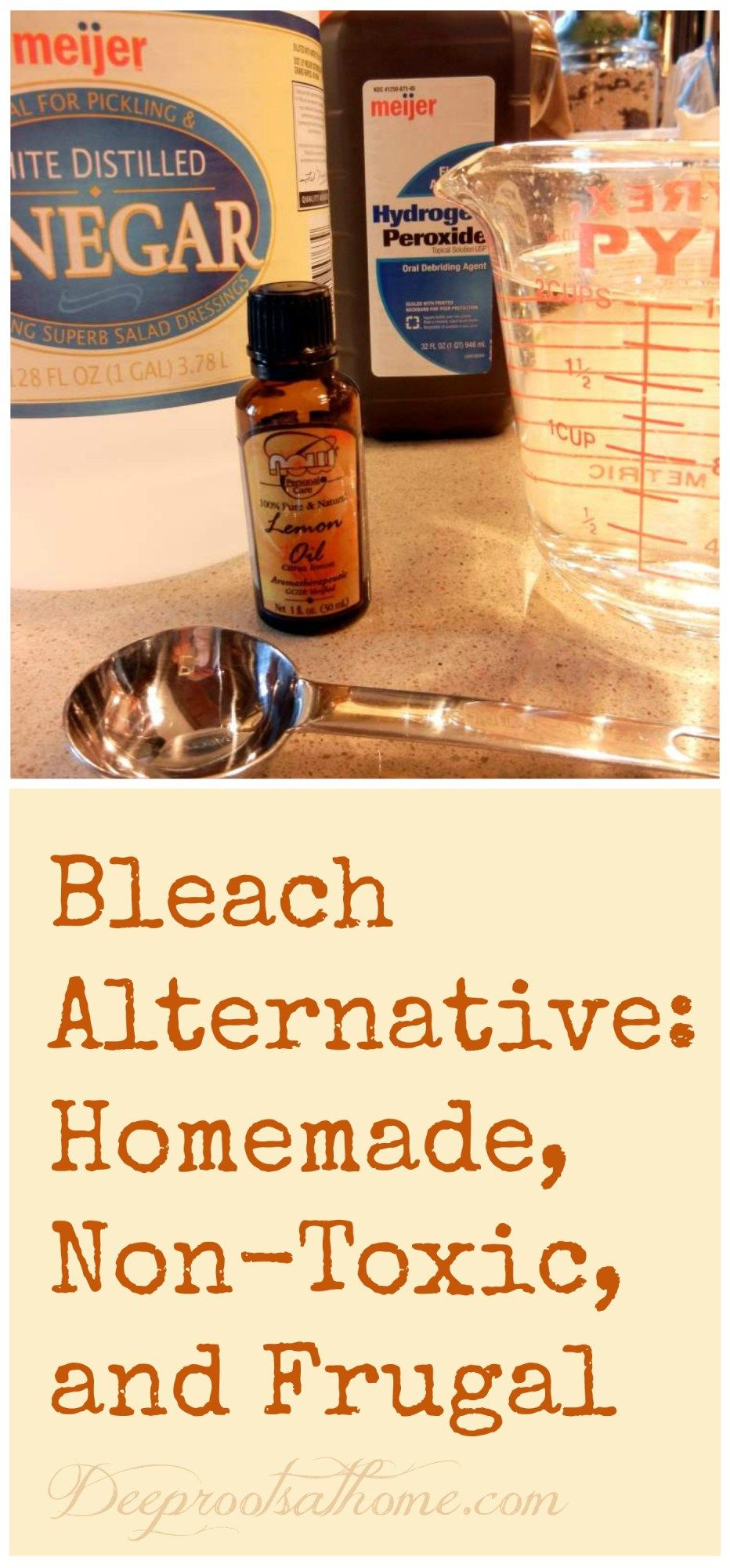 3 Ingredient Bleach Alternative: Homemade, Truly Non-Toxic