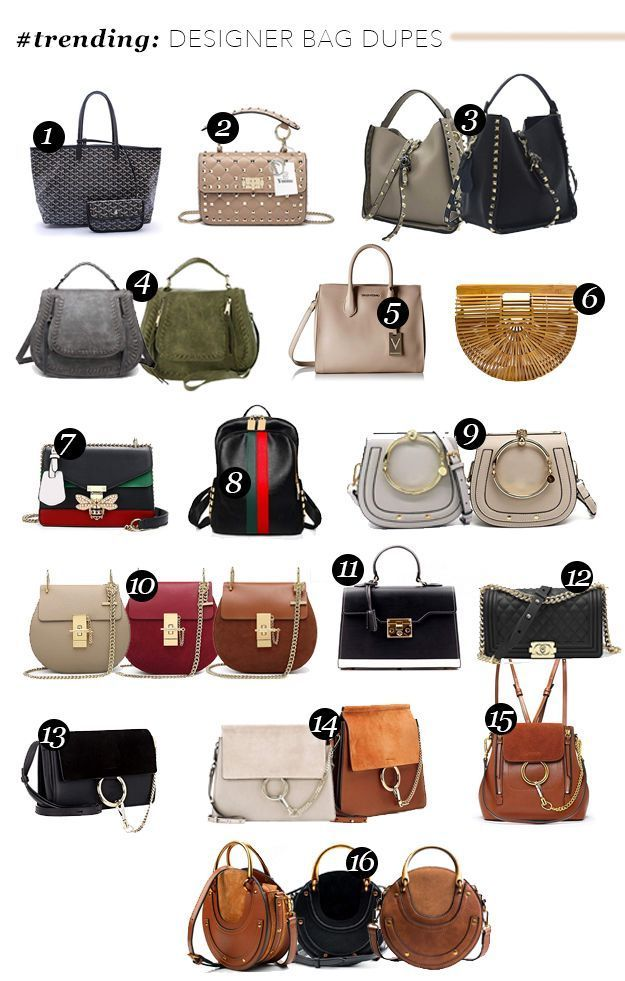 trending: Designer Bag Dupes | Best crossbody bags