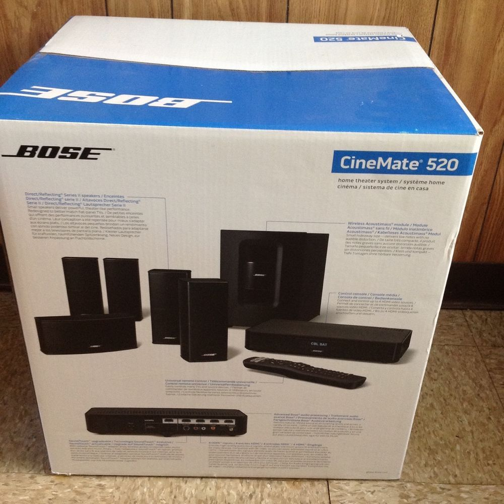 Bose Home Cinema Bose Cinemate 520 Home Theater System Brand New #bose | Home Theater System, Bose, Home Theater