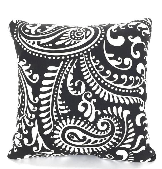 Black Throw Pillow Covers, Cushions, Couch Pillows ...