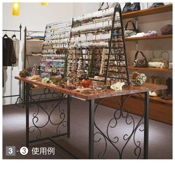 【楽天市場】アイアン大型アクセサリー什器セット W150cm ホワイト+天板ホワイト sale