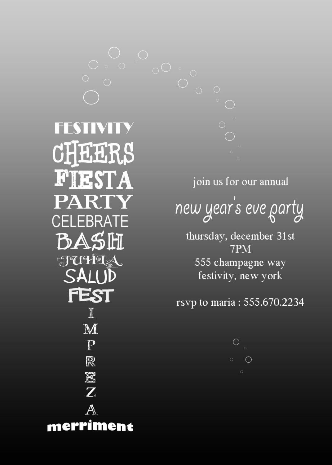 Wine or Champagne Party Invitation by SundayGirlsDesigns on Etsy ...