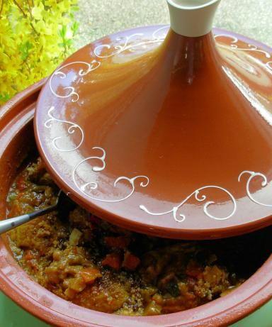 Easy Crock Pot Moroccan Chicken, Chickpea and Apricot Tagine Recipe