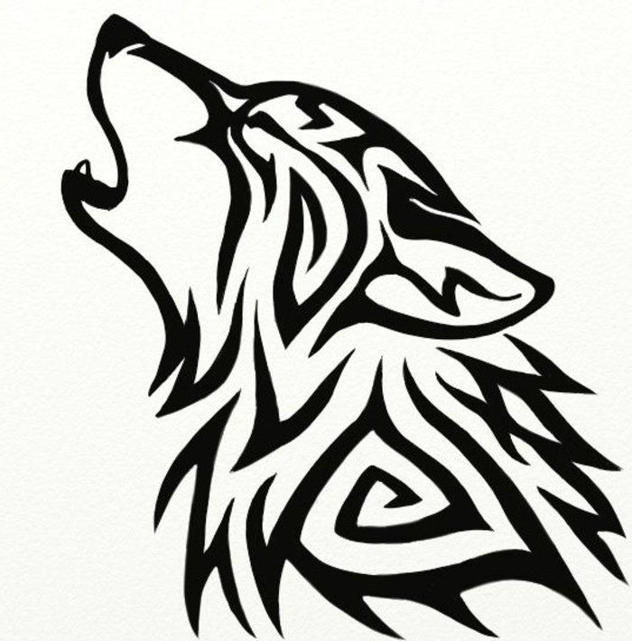 ▷ 1001 + ideas for a great wolf tattoo that you might like very much-#backtatto #great #hiptatto #ideas #might #musictatto #tattofemininas #tattogirl #tattohand #tattoo #wavetatto #Wolf #wolftatto- another nice looking black wolf tattoo wolf tribal, a howling wolf
