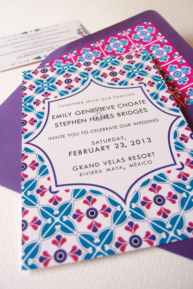 Mexican Inspired Invitation Variations Lizzy B Loves Wedding Invitations Celebration Stationery