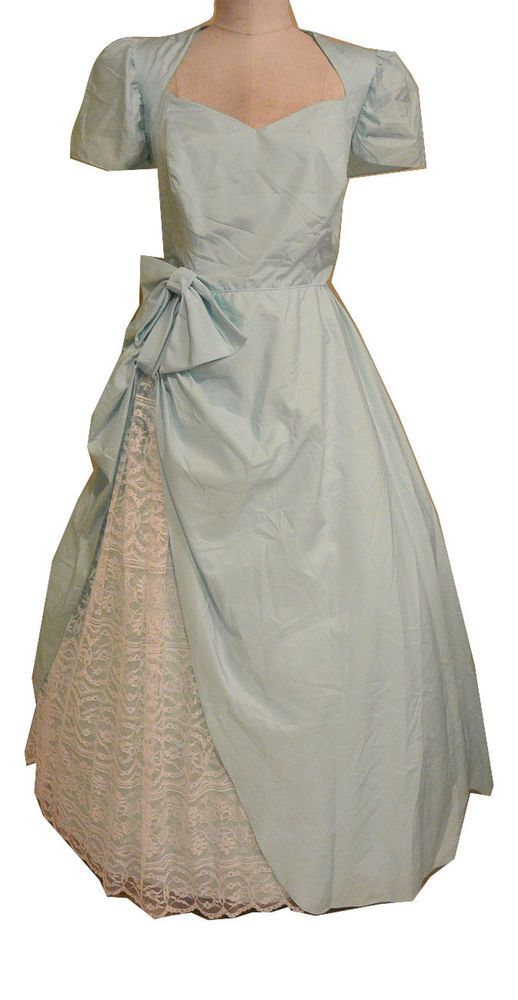 Vintage Prairie Southern Belle Dress Light Green Lace Costume Dress Unbranded Southern Belle Dress Dresses Womens Vintage Dresses