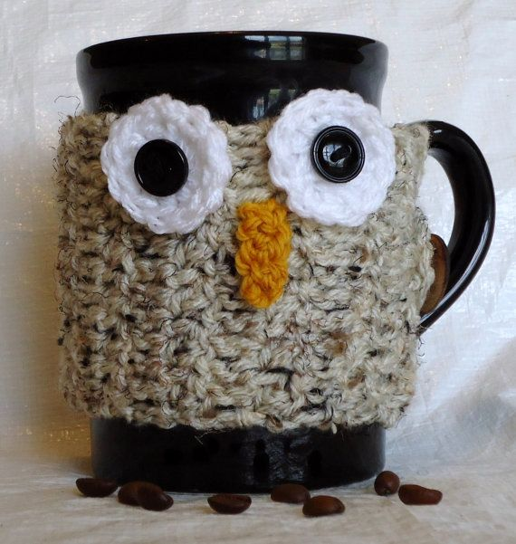 Brown Owl Cup Cozy | Craft items | Pinterest | Tejido