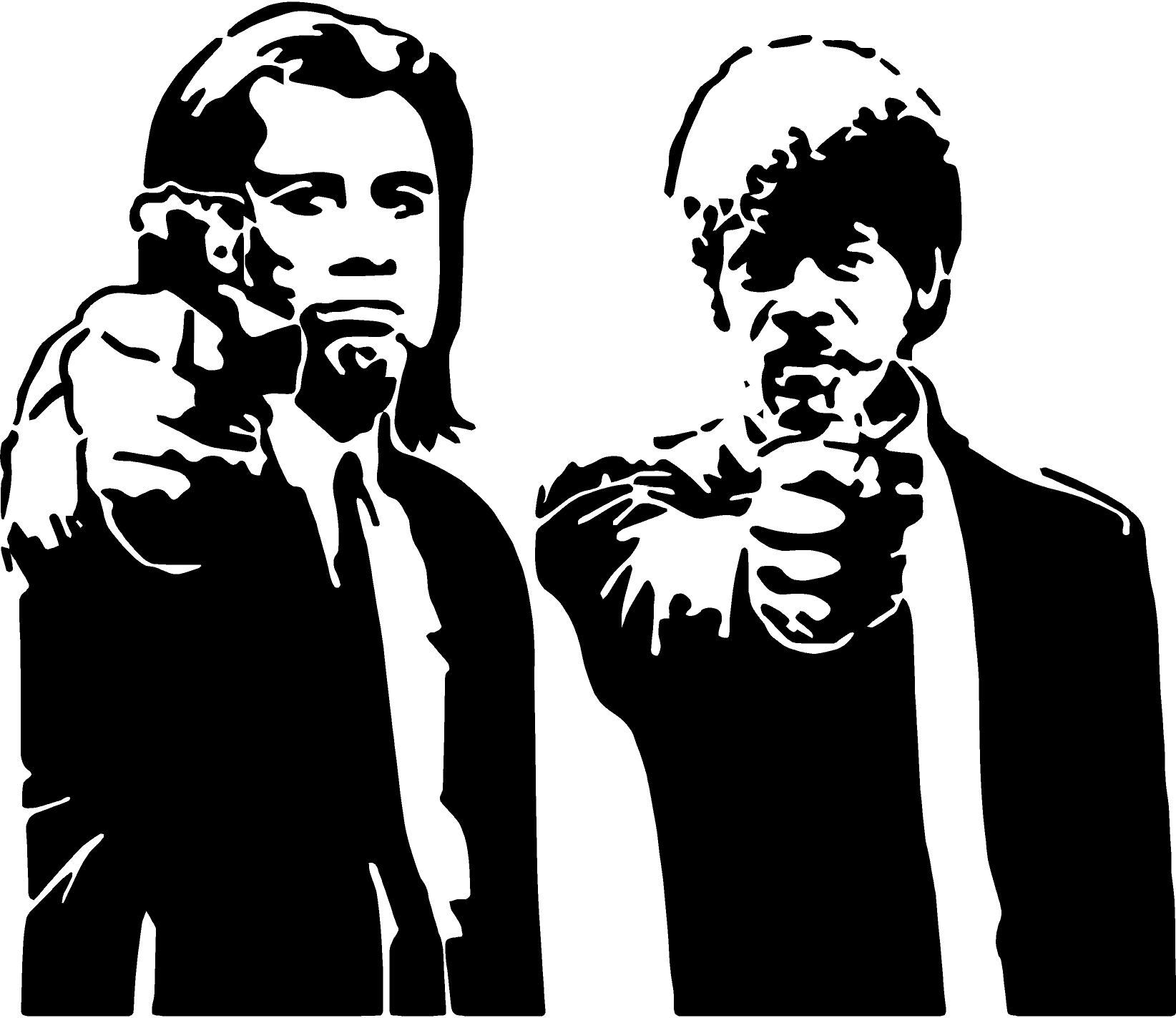 f8b911b4f67c48 Iconic Pulp Fiction Silhouette Size 60cm x 50cm £11.49 with Free UK P P  from www.wearewallart.com